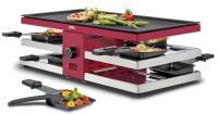 Spring Raclette8 Fun mit Alu-Grillplatte in rot