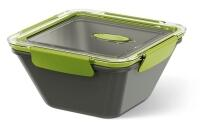Emsa Bento Box quadratisch in grau/grün 1,5L