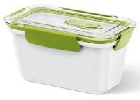 Emsa Bento Box rechteckig in weiß/grün 0,9L