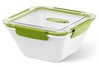 Emsa Bento Box quadratisch in weiß/grün 1,5L