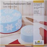 Birkmann Torten Schablonen-Set Eiskristall, 2-teilig