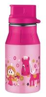 alfi Trinkflasche elementBottle Little Princess mit Trinkverschluss 0,4 Liter in rosa