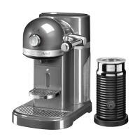 KitchenAid Nespressomaschine ARTISAN mit Milchaufschäumer medallion silber
