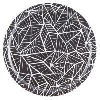 Åry Trays Tablett Wings rund in charcoal mit 49 cm Durchmesser