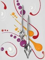 Küchenprofi Dekorierlöffel mit Edelstahlgriff, 2-teilig
