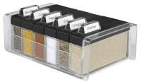 Emsa Gewürz-Kartei Spice Box mit 6 Gewürzen in schwarz