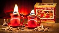 Aladin Feuerzangentasse in terracotta, 2er Set