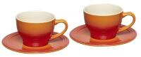 Le Creuset Cappuccinotassen 2er-Set in ofenrot
