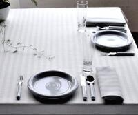 Schlitzer Leinen Tischdecke Tria weiß