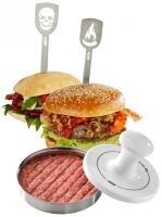 GEFU Hamburgerpresse SPARK mit 2 Hamburgerspießen
