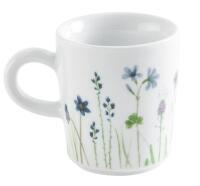 Kahla Magic Grip Wildblume Espresso-Obertasse 0,09 l, blau-rot
