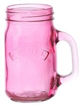 Kilner Clip Top Trinkglas in pink, 0,4 Liter