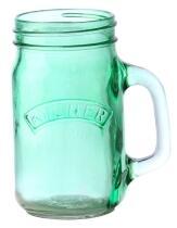 Kilner Clip Top Trinkglas in grün, 0,4 Liter