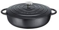 Küchenprofi Gourmetpfanne aus Gusseisen Provence in schwarz