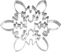 Birkmann Ausstechform XXL Eiskristall mit Innenprägung aus Edelstahl