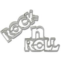 Städter Ausstechform Rock'n'Roll-Schriftzug 7 / 7,5 cm 2-teilig