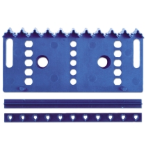 Städter Kunststoff-Ausstecher-Form Bordüre 14,5 cm Blau Set, 3-teilig