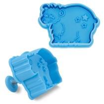 Städter Kunststoff-Ausstecher-Form Eisbär 6 cm Hellblau