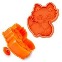 Städter Kunststoff-Ausstecher-Form Fuchs 6,5 cm Orange
