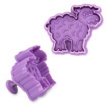 Städter Kunststoff-Ausstecher-Form Schaf 6,5 cm Lila / Violett