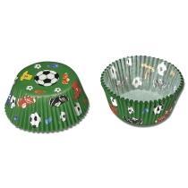 Städter Papierform Fußball ø 3/4 cm / H 2 cm Grün Mini 50 Stück