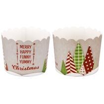 Städter Papierform Yummy Christmas ø 6/7 cm / H 5,5 cm Bunt Maxi 12 Stück