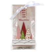 Städter Pralinenhelfer Yummy Christmas 9 x 25 cm Transparent Set, 24-teilig