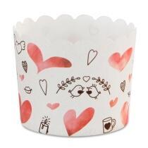 Städter Papierform Sweet Love ø 6/7 cm / H 5,5 cm Bunt Maxi 12 Stück