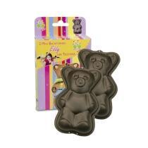 Städter Backform Eddy der Teddybär 7 x 11 x 3 cm Mini 2 Stück 50 ml