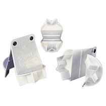 Städter Kunststoff-Ausstecher-Form Zimtstern ø 5 cm Weiß klappbar