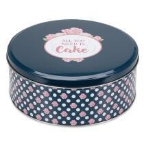 Städter Gebäckdose All you need is Cake ø 22 cm / H 9,5 cm Bunt Rund