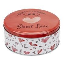 Städter Gebäckdose Sweet Love ø 22 cm / H 9,5 cm Bunt Rund