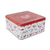 Städter Gebäckdose Sweet Love 16,5 x 16,5 cm / H 8 cm Bunt Quadratisc