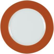 Eschenbach Porzellan Teller flach 20 cm in orange-braun