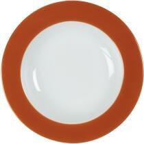 Eschenbach Porzellan Teller tief 22 cm in orange-braun