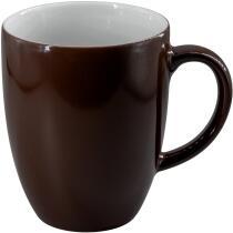 Eschenbach Porzellan Becher mit Henkel 0,28 l in kaffeebraun