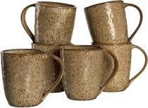 Leonardo Keramiktasse MATERA 430 ml beige, 6er-Set