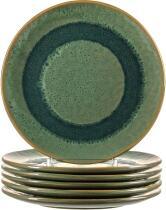 Leonardo Keramikteller MATERA 22,5 cm grün, 6er-Set