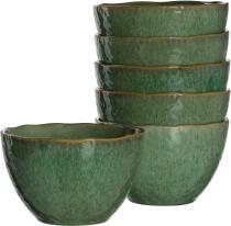 Leonardo Keramikschale MATERA 15,3 cm grün, 6er-Set