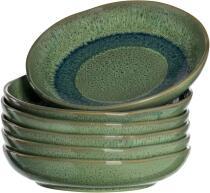 Leonardo Keramikteller MATERA 20,7 cm grün Tief, 6er-Set
