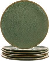 Leonardo Keramikteller MATERA 27 cm grün, 6er-Set