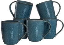 Leonardo Keramiktasse MATERA 430 ml blau, 6er-Set