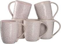 Leonardo Keramiktasse MATERA 430 ml rosé, 6er-Set