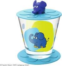 Leonardo Kindertrinkset BAMBINI 3-teilig 215 ml blau Elefant