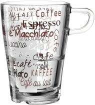 Leonardo Latte Macchiato Tasse SENSO 350 ml Cafe, 6er-Set