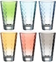 Leonardo Trinkglas OPTIC 6 Stück sortiert 300 ml Pastell