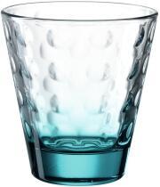 Leonardo Trinkglas OPTIC 215 ml türkis, 6er-Set