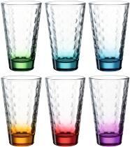 Leonardo Trinkglas OPTIC 6 Stück sortiert 300 ml violett
