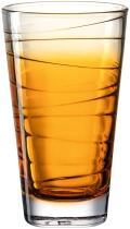 Leonardo Trinkglas VARIO STRUTTURA 280 ml orange, 6er-Set