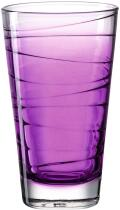 Leonardo Trinkglas VARIO STRUTTURA 280 ml violett, 6er-Set